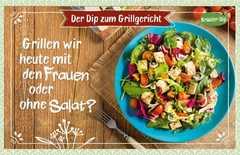 Kräuter-Dip-Postkarte - Grillen wir heute mit den Frauen