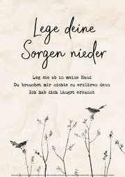 Poster: Lege dein Sorgen nieder - A3