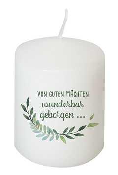 Kerze - Von Guten Mächten wunderbar geborgen