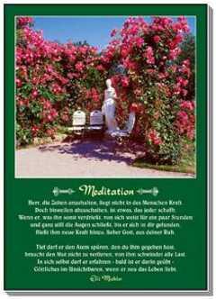Postkarten: Meditation, 12 Stück