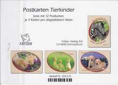 Postkartenserie Jungtiere, 12 Stück