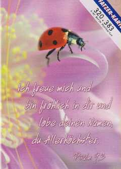 Postkarten Marienkäfer - 6 Stück