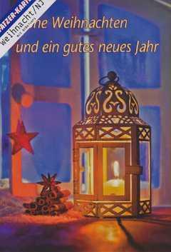 Faltkarten Weihnachten/Neujahr - 5 Stück