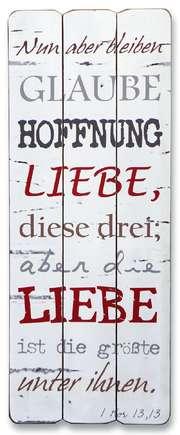 "Vintage-Wandbild ""Glaube, Hoffnung, Liebe"""
