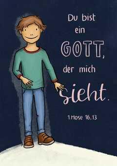 Jahreslosung 2020 - Kinder-Edition Postkarten 10 Stk.